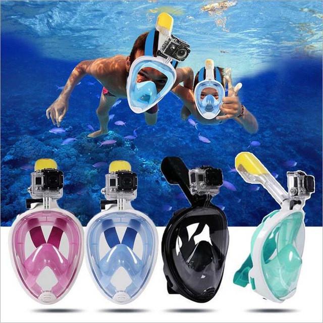 Маска для снорклинга, подводного плавания, на всё лицо