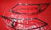 Хром накладки на фары Kia Sportage 3, Киа Спортейдж 3