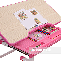 Растущая парта + стульчик для школьника Fundesk Lavoro Pink - ОПТОМ ДЛЯ ШКОЛ, фото 3