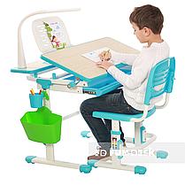 Растущая парта + стульчик для школьника Fundesk Lavoro Blue - ОПТОМ ДЛЯ ШКОЛ, фото 3