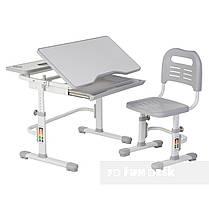 Зростаюча парта + стілець для школяра Fundesk Lavoro Grey - ОПТОМ ДЛЯ ШКІЛ, фото 2