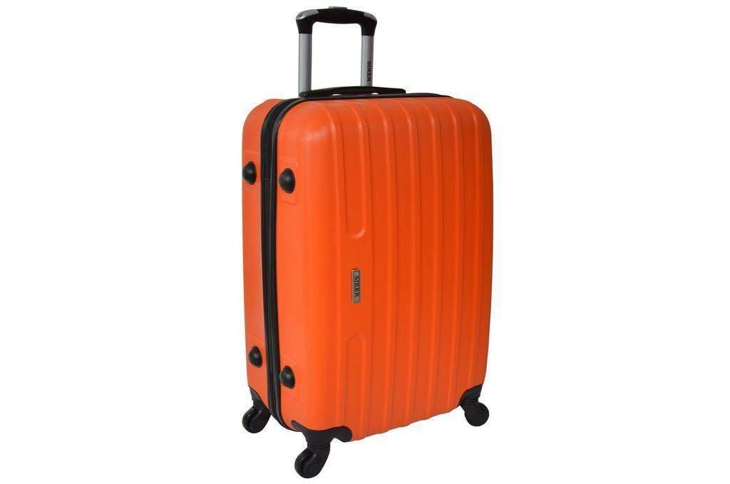 Дорожный чемодан на колесах Siker Line Оранжевый Средний