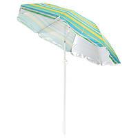 Зонт солнцезащитный с наклоном 200см, пляжный зонт с напылением, зонт с креплением Ромашка, фото 1