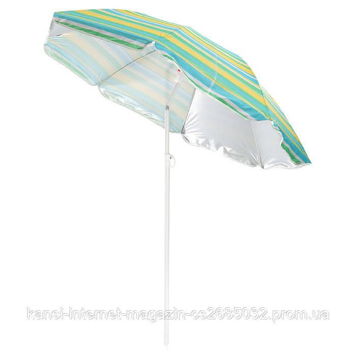 Зонт солнцезащитный с наклоном 200см, пляжный зонт с напылением, зонт с креплением Ромашка