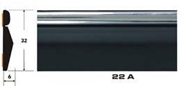Декоративный молдинг на авто 22 А черный+хром полоса 6х32мм