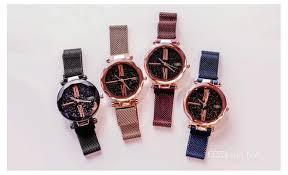 Хит! Женские часы Starry Sky Watch на магнитной застёжке,годинник фиолетовые