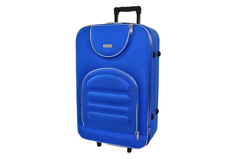 Дорожный чемодан на колесах Siker Lux Синий Большой
