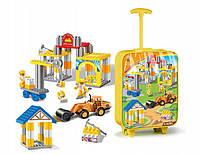 Конструктор для мальчиков в чемодане набор строительных блоков, фото 1