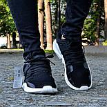 Мужские кроссовки Adidas EQT Support ADV Black&White черные с белым летние в сетку. Живое фото (Реплика ААА+), фото 3