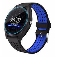 Смарт-часы Smart Watch V9 черный с синим, фото 1