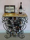 Стіл-стелаж для вина кований (арт. PVKC-101-21-З), фото 4