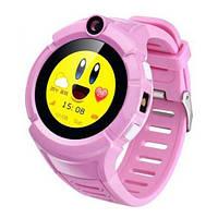 Смарт-часы детские с GPS и камерой Smart Watch Q360 розовый, фото 1
