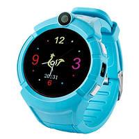 Смарт-часы детские с GPS и камерой Smart Watch Q360 голубой, фото 1