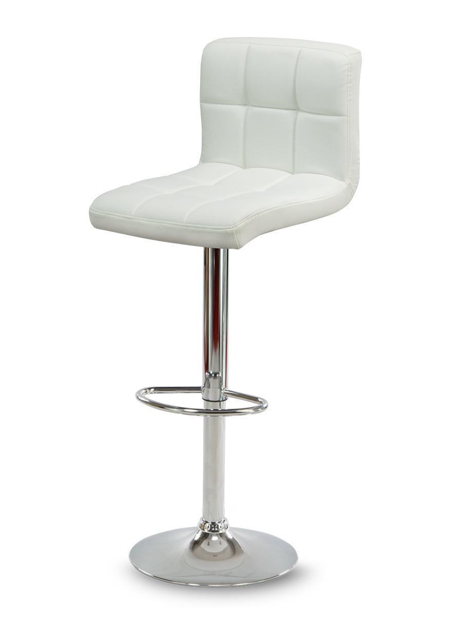 Барный стул Hoker MONZO с регулированием высоты и поворотом сидения Эко кожа Белый