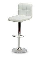Барный стул Hoker MONZO с регулированием высоты и поворотом сидения Эко кожа Белый, фото 1