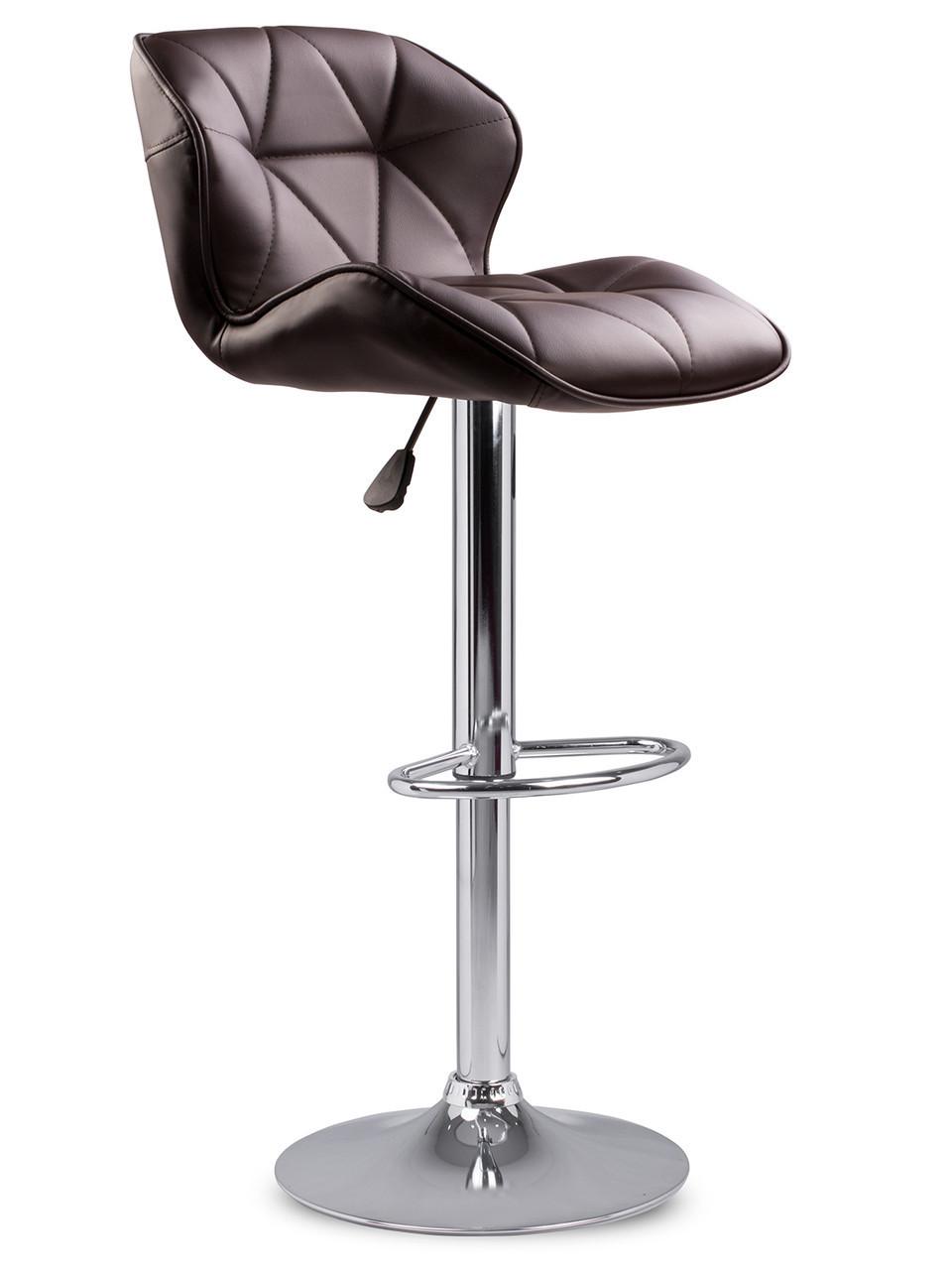 Барный стул Hoker SEVILA с поворотом сиденья 360 градусов и подставкой для ног Коричневый