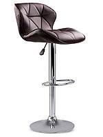 Барный стул Hoker SEVILA с поворотом сиденья 360 градусов и подставкой для ног Коричневый, фото 1