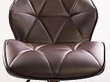 Барный стул Hoker SEVILA с поворотом сиденья 360 градусов и подставкой для ног Коричневый, фото 4