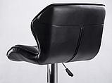 Барный стул Hoker SEVILA с поворотом сиденья 360 градусов и подставкой для ног Коричневый, фото 5