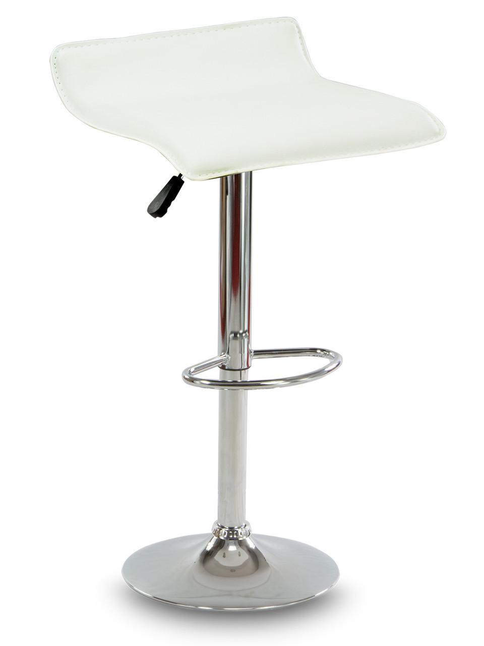 Барный стул Hoker VIA с регулированием высоты и подножкой Белый