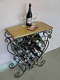 Стіл-стелаж для вина кований (арт. PVKC-101-21-З), фото 6