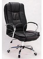 Кресло офисное компьютерное Calviano MAX MIDO на колесиках Эко кожа Черное, фото 1