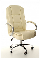 Кресло офисное компьютерное Calviano MAX MIDO на колесиках Эко кожа Бежевое, фото 1