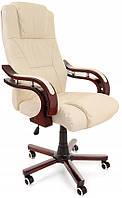 Компьютерное кресло офисное Prezydent Calviano механизм TILT Бежевое, фото 1