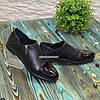 Туфлі жіночі чорні на блискавці, на низькому ходу, з натуральної шкіри, лакової шкіри, фото 3