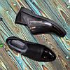 Туфлі жіночі чорні на блискавці, на низькому ходу, з натуральної шкіри, лакової шкіри, фото 4