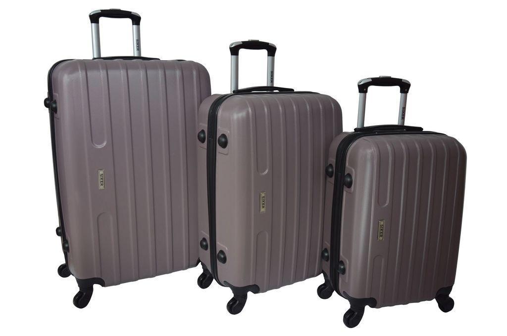 Набор дорожных чемоданов на колесах Siker Line набор 3 штуки Какао