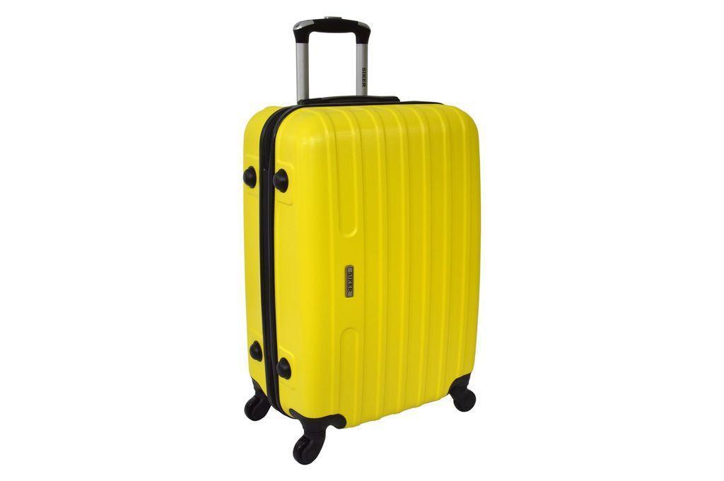 Дорожный чемодан на колесах Siker Line Желтый Небольшой