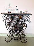 Стіл-стелаж для вина кований (арт. PVKC-101-21-З), фото 8