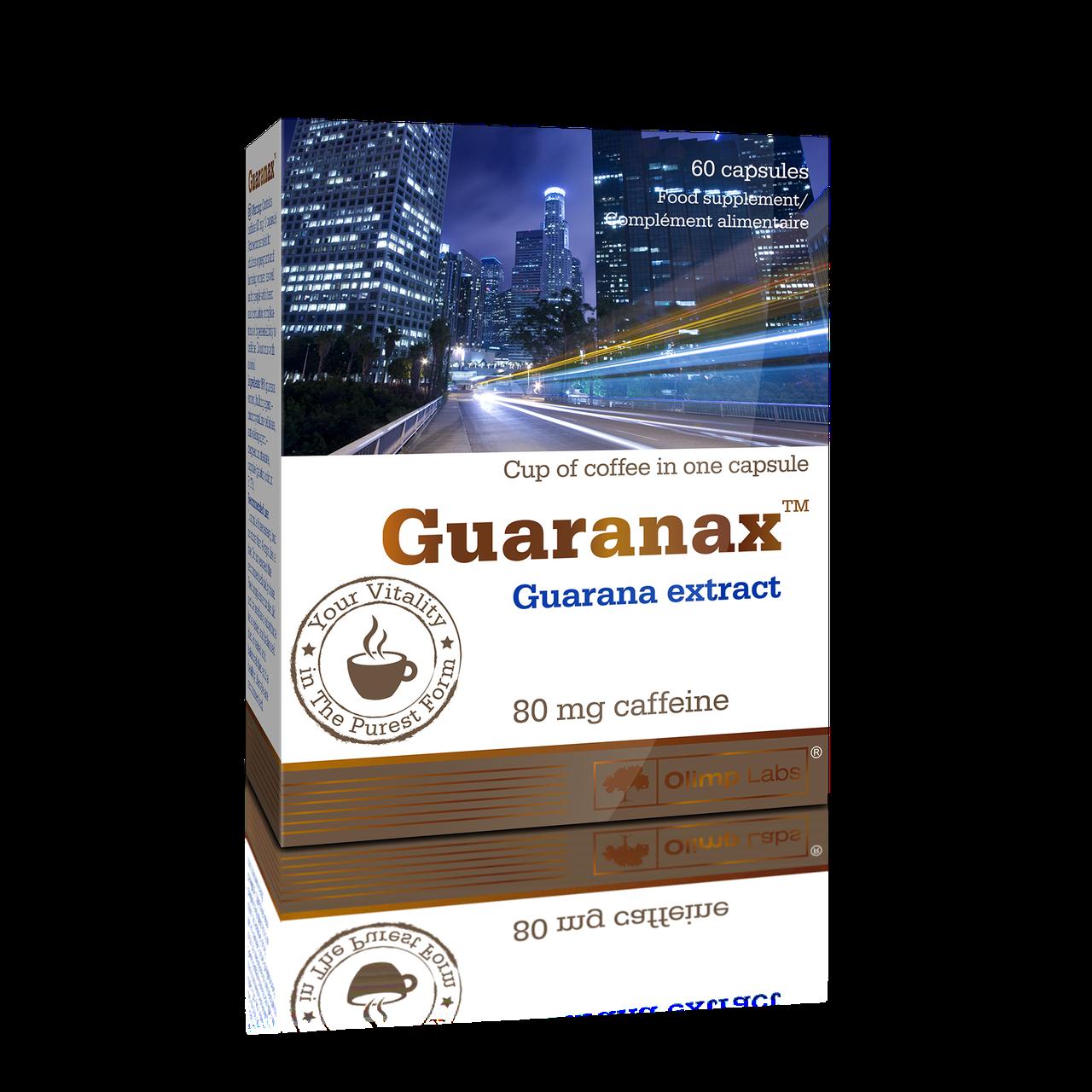 Энергетические стимуляторы Olimp Guaranax 60 caps