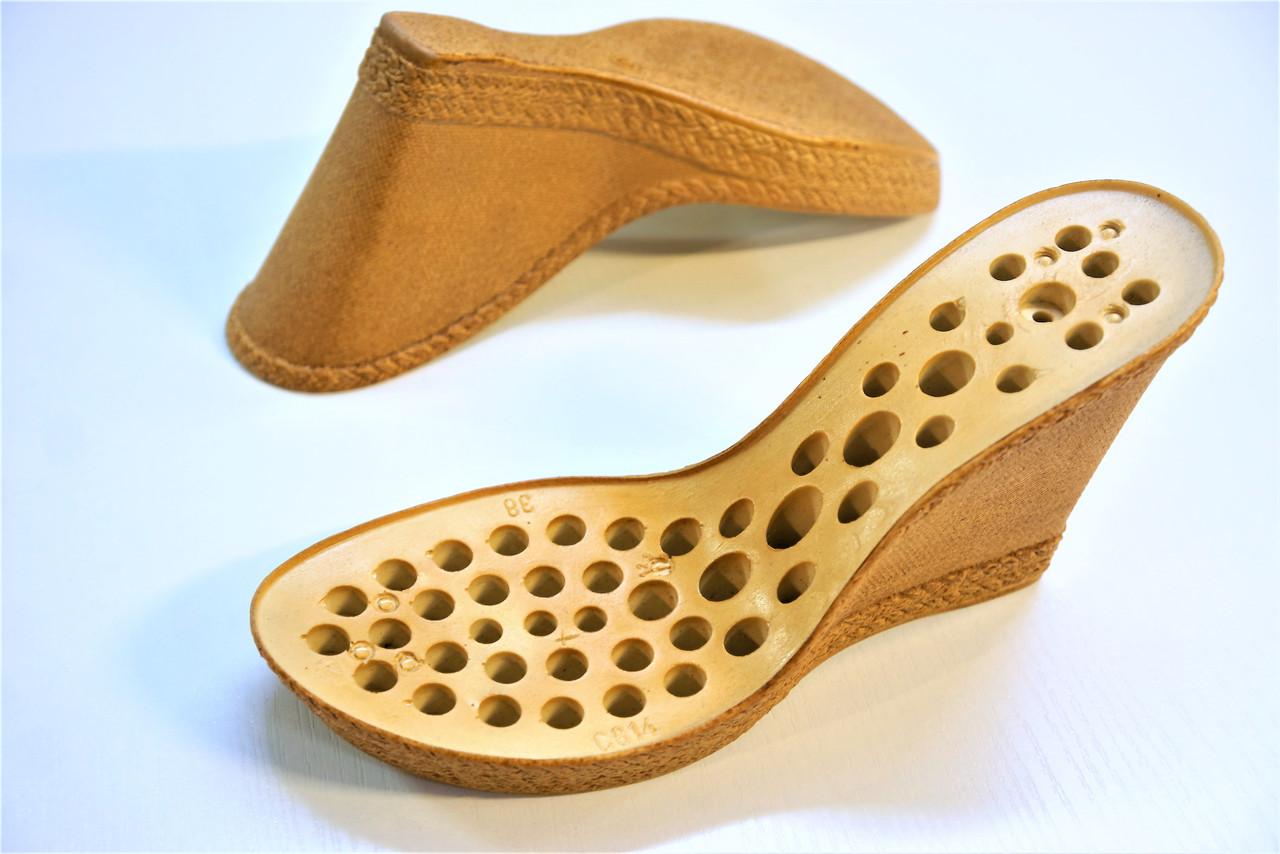 Подошва для обуви женская C-814 беж-пробка. р.38