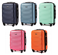 Дорожный чемодан на колесах WINGS ABS 401 Небольшой ударостойкий Разные цвета