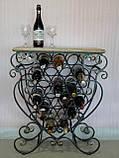 Стіл-стелаж для вина кований (арт. PVKC-101-21-З), фото 10