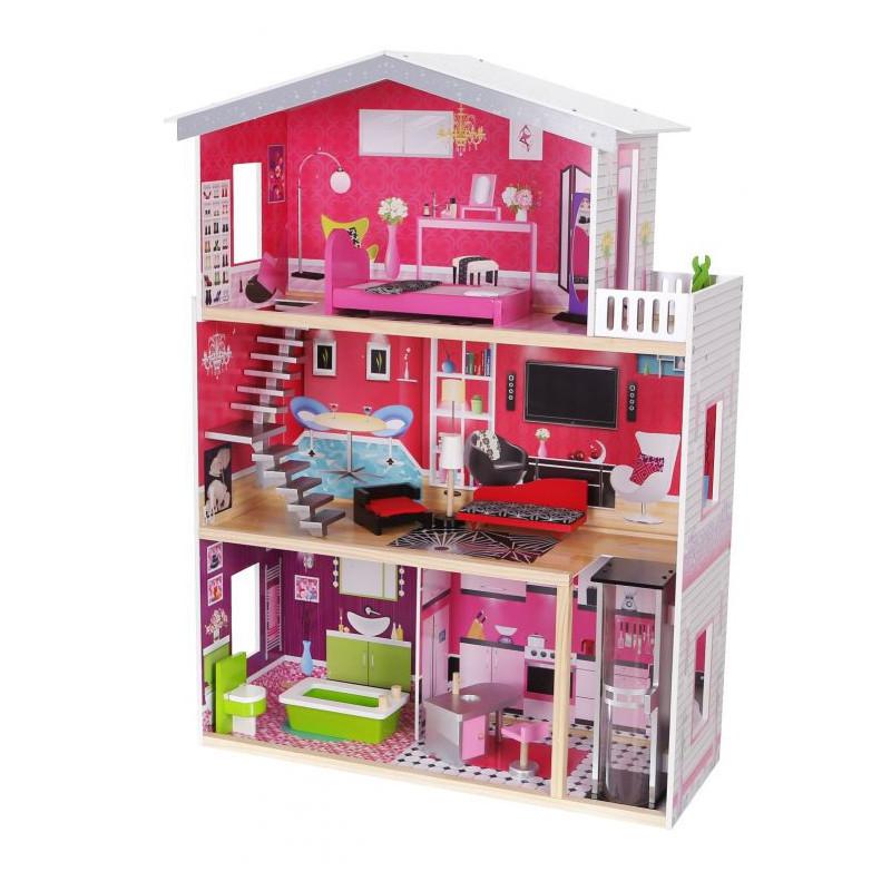 Детский домик для кукол Eco Toys Malibu с лифтом