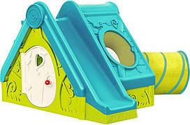 Детский игровой домик Keter Funtivity с горкой  (игровой домик для улицы и дома)