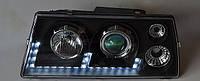 Передні тюнінг фари ВАЗ 2108 2109 21099 ходові вогні лінза чорні