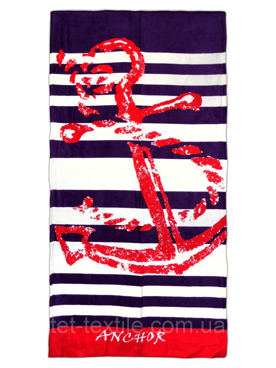 "Пляжное полотенце ""Anchor"" 70х140см."