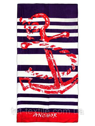 """Пляжное полотенце """"Anchor"""" 70х140см., фото 2"""