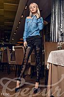 Джинсовая рубашка Gepur Weekend 11190
