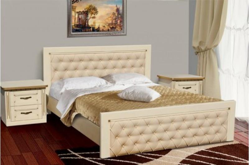 Деревянная Кровать Freedom Слоновая кость и патина золото