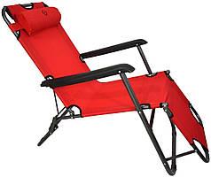 Шезлонг Bonro лежак 178 см Красный