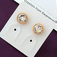 Серьги-гвоздики Swarovski, размер 7 мм
