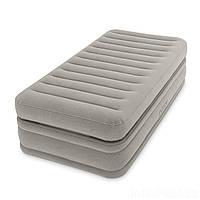 Надувная кровать Intex 64444 встроенный электронасос Односпальная, фото 1