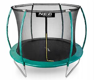 Батут NeoSport 312 см с внутренней сеткой и лесенкой, фото 2