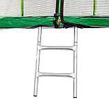 Батут Atleto 374 см с двойными ногами и сеткой Зеленый, фото 3