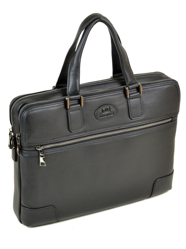 Портфель кожаный BRETTON BE 5415-1 black на 2 отделения
